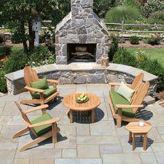 Teak Adirondack Chairs & Adirondack Footstools - Home Decorating Ideas | Home Interior Design