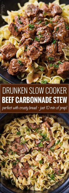 Drunken Slow Cooker Beef Stew (Beef Carbonnade)