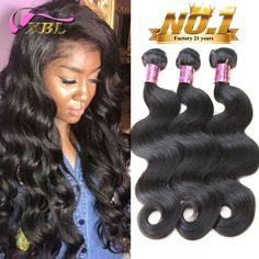Unprocessed Brazilian Virgin Hair Body Wave 3pcs Brazilian Hair Weave Bundles XBL Human Hair Body Wave tissage bresilienne <3 Click the image to find out more