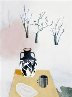 Still Life with Three Trees, Two Vessels and One Hundred mls of Spilt Milk