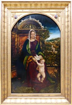 Madonna in de rozenhaag ~ 1509 ~ Olieverf op hout ~ Germanisches Nationalmuseum, Neurenberg
