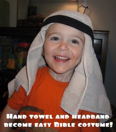 bringing a Bible story to life: using inexpensive items from around the house to make it meaningful and memorable via motherhood on a dime Family Bible Study, Bible For Kids, Preschool Bible, Bible Activities, Family Worship Night, Biblical Costumes, Childrens Christmas, Christmas Nativity, Vacation Bible School