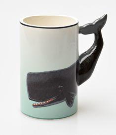 Taupe & Seafoam Painted Ceramic Whale Mug Green Coffee Mugs, Painted Coffee Mugs, Green Mugs, Coffee Cups, Ceramic Bowls, Ceramic Mugs, Ceramic Pottery, Animal Mugs, Cute Mugs