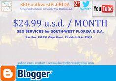 $24.99usd/Month SEO services  SEOsouthwestFLORIDA