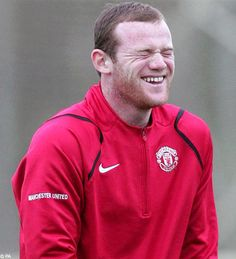 Wayne Rooney laughing