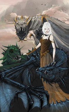 Daenerys Targaryen by minenanoah on deviantart.