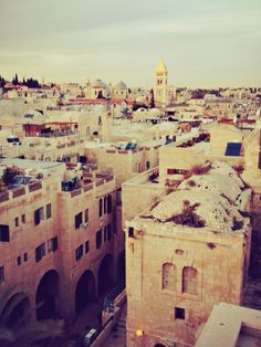 Jerusalem.  I know it's not where you're going to be living, but it's still really beautiful :)