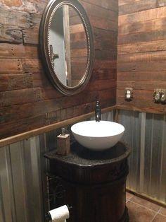 Best 25+ Tin walls ideas on Pinterest | Barn bathroom, Galvanized ...