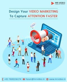 Increase engagement on your digital and social channels, educate your consumers and customers, and reach your audience with a new medium - VIDEO MARKETING - - Contact us to design your Marketing Videos at hasan - - Youtube Advertising, Whiteboard Video, Marketing Videos, Video Team, Deep Thinking, Social Channel, Competitor Analysis, You Videos, Video Editing