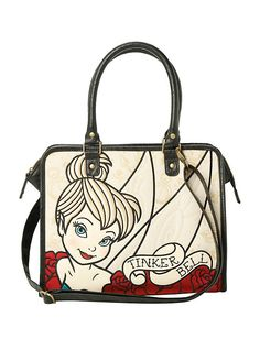 Disney Loungefly Tinker Bell Tattoo Tote Bag,