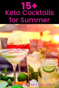 The Best Keto Cocktails Recipes to make Keto Friendly , booty shaking cocktail or low carb mocktail for a party or just for yourself. Summer's coming and we're ready to get our party on again #ketococktails #ketomocktails #castleinthemountains Low Carb Cocktails, Cocktail Recipes, Healthy Life, Healthy Eating Recipes, How To Stay Healthy, Low Carb Recipes, Diet Recipes, Carb Alternatives, Keto Meal Plan