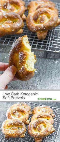 Low Carb Ketogenic Soft Pretzel