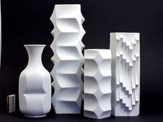 Sculptural vases by Heinrich Fuchs Image Source: http://www.flickr.com/photos/modernistmoon
