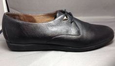 Rockport Oxfords 7.5N Womens Soft Leather Lace Up Casual Work Shoes Black
