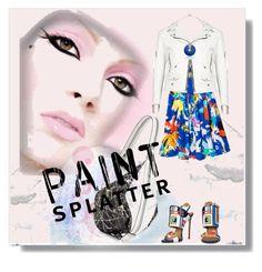 """Make a Splash With Paint Splatters"" by kari-c ❤ liked on Polyvore featuring Eskayel, Yves Saint Laurent, Dsquared2, Botkier, Robert Lee Morris and paintsplatter"