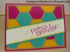 Stampin with Katherine Inlaid embossing Technique