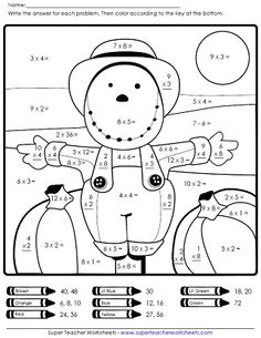 Best Maths Images  Jokes Math Humor Maths Fun Autumn Scarecrow Math Worksheet On Super Teacher Worksheets Multiplication  Worksheets School Worksheets Teacher Worksheets