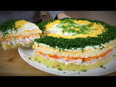 MIMOSA SALAD je súčasťou každého bohatého stola - YouTube Egg Recipes, Appetizer Recipes, Mimosa Salad, Lunch Buffet, Cold Dishes, Buttercream Recipe, Mediterranean Recipes, Food Design, Soup And Salad