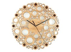 We are loving the artistic feel of this Union Circle bamboo wall clock.