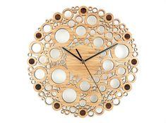 Reloj de pared reloj con motivos reloj de pared por BeamDesigns
