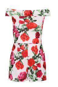 Rosie Floral Bardot Playsuit | needthatdress.com