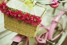 Love the pink bike and basket