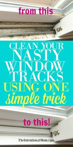 Cleaning Tips and Hacks Clean those window tracks! Spring Cleaning Tips and HacksClean those window tracks! Spring Cleaning Tips and Hacks Deep Cleaning Tips, House Cleaning Tips, Diy Cleaning Products, Cleaning Solutions, Cleaning Hacks, Diy Hacks, Cleaning Supplies, Cleaning Checklist, Spring Cleaning Tips