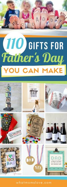 Best DIY Fathers Day Gift Ideas from kids   Easy crafts, free printables, meaningful cards, fun food and more unique projects for Dad or Grandpa that your kids can make! Perfect presents from daughter or son. #fathersday #giftsfordad #fathersdaygift #diy #giftidea