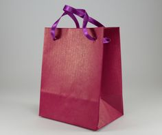 10 RedViolet Paper Gift Bags with Handles - Extra Small Paper Bags - Parties Favor Bags - Jewelry Gift Bags - pinned by pin4etsy.com