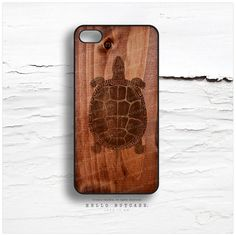 iPhone 4 and 4S case Turtle on Wood Texture Wood von HelloNutcase, $19.00