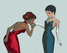 San Diego, Carmen Miranda, Lesbian Art, Cool Poses, Cute Art Styles, Film Serie, Animation Series, Pretty Art, Cute Drawings