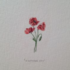 Day 272 : Poppies for Mari