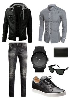 """""""What we secretly want"""" by noelgirl6108 on Polyvore featuring Jack & Jones, Diesel, Balenciaga, Ray-Ban, men's fashion and menswear"""
