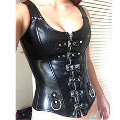 Women Halloween Sexy Slimming Waist Trainer Cincher Corset Lace Up Overbust Bustier Top Steampunk Dress Plus Size Corsets Bustier Top, Corset Bustier, Sexy Corset, Overbust Corset, Corset Dresses, Corset Tops, Fashion Kids, Look Fashion, Gothic Fashion