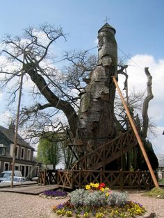 Chêne Chappelle (Chapel Oak) is one of the oldest trees in France. It's a fairy tale cathedral that holds two tiny chapels in its hollow trunk and hosts an annual pilgrimage.