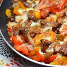 Philly Steak And Cheese Cooked In A Skillet. Classic steak dishes made simple. Daily simple recipes for everyone (Keto Cheese Steak) Skillet Steak, Beef Steak, Skillet Cooking, Pork, Steak Recipes, Cooking Recipes, Healthy Recipes, Skillet Recipes, Simple Recipes
