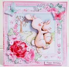 MUMMY BUNNY 7.5 Decoupage & Insert Kit Various Occasions - CUP956156_68 | Craftsuprint Decoupage, Baby Girl Cards, Small Cards, New Baby Girls, Cute Cards, Happy Mothers Day, Happy Easter, New Baby Products, Card Making