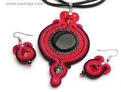 Red Eye set by Sutasz-Anka http://www.etsy.com/listing/178944425/red-eye-soutache-jewelry-set?ref=shop_home_active_19
