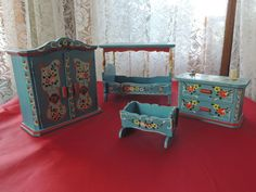 Tole Painted Dollhouse Furniture