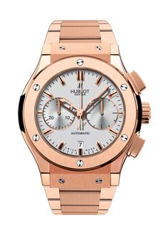 Classic Fusion King Gold Opalin Bracelet Chronograph watch from Hublot