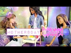 Seven minutes in, tray idea.Mothers Day Mash Ups - How to Make Barbie Room, Barbie Hair, Mothers Day Crafts, Happy Mothers Day, Ag Dolls, Barbie Dolls, My Froggy Stuff Videos, Myfroggystuff, Breakfast Tray