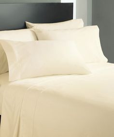 This Cathay Home Cream Solid Sheet Set by Cathay Home is perfect! #zulilyfinds