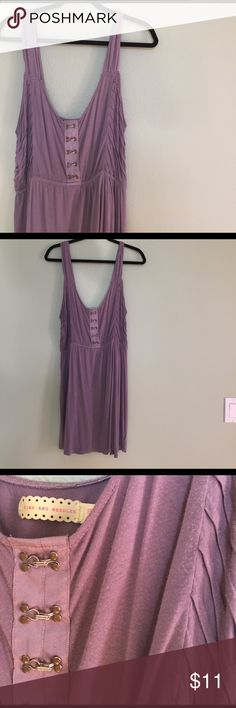 Urban Outfitters Pins & Needles mauve dress Soft and comfortable urban outfitters dress with hook detailing. Good condition, runs true to size. Middle band is elastic. Pins & Needles Dresses Mini