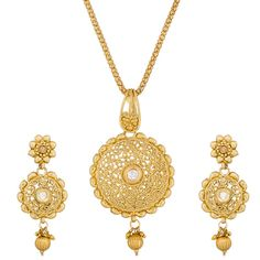 Wedding Season Special Designer Pendant Set PS-1288 Necklaces and Necklace Sets on Shimply.com