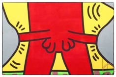 Ten Commandments 1985 Detail Painting by Keith Haring