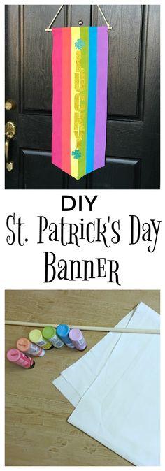 DIY St. Patrick's Day Door Banner - Jolly & Happy