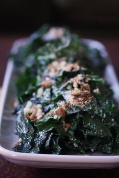 The Best Kale Caesar Salad You'll Ever Have with Roasted Garlic Dressing ~ by A Cup Of Jo Kale Recipes, Cooking Recipes, Healthy Recipes, Vegetarian Recipes, Drink Recipes, Healthy Eats, Delicious Recipes, Healthy Foods, Recipies