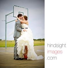 Basketball wedding photo Dress by Maggie sottero - juliette Photo by hindsight images