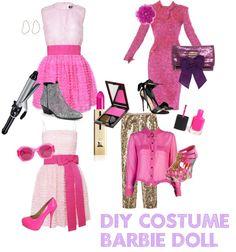 """Barbie Doll Costume DIY"" by hannahbananasplit-1 on Polyvore"