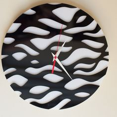 Modern Wall Clock Water Large Clock Handmade clock от Lines4room